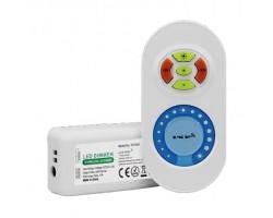 Controlador para tira LED Monocolor 12V/24V 4x2,5amp. con mando Blanco