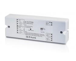 Regulador Controlador 0-10V para tira LED Monocolor 12-36V 4 canales 1 dirección 240-720W