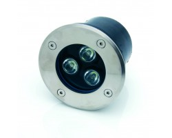 Foco LED exterior IP67 empotrar 3W