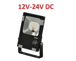 Foco LED exterior PRO 12V-24V DC 10W IP65 Negro