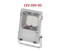 Foco LED exterior PRO 12V-24V DC 20W IP65 Blanco