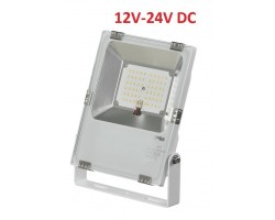 Foco LED exterior PRO 12V-24V DC 30W IP65 Blanco