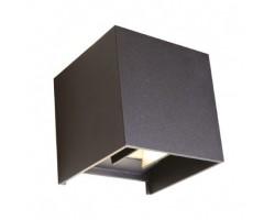 Aplique LED exterior IP54 superficie pared CUBIC 12W 1320Lm Negro