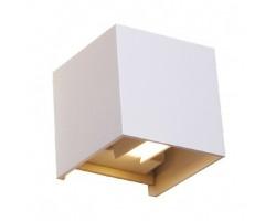 Aplique LED exterior IP54 superficie pared CUBIC 6W 660Lm Blanco