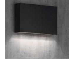 Aplique LED exterior IP65 superficie pared R 7W 500Lm Negro