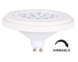 Lámpara LED AR111 GU10 15W 30º 1100lm Regulable