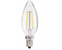 Lámpara LED Vela Clara E14 2W Filamento 2700ºK
