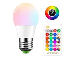 Lámpara LED Standard A70 E27 10W RGB-W con mando distancia