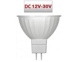 Lámpara LED GU5,3 MR16 SMD 5,5W 100º 12V-30V DC