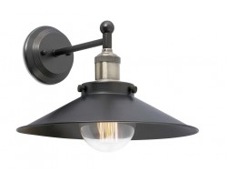Lámpara Pared Vintage Plato Metal con p/lampara E27, brazo y florón