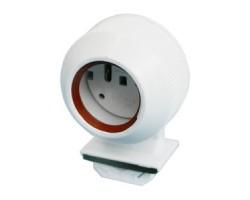 Portalámpara estanco para tubo LED o fluorescente T8, fijación presión