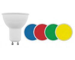 Lámpara LED GU10 SMD 3W 110º colores