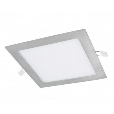 Downlight panel LED Cuadrado 190x190mm Gris Plata 15W