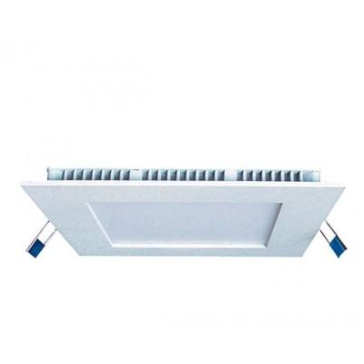 Downlight panel LED Cuadrado 225x225mm Blanco 18W Blanco Neutro