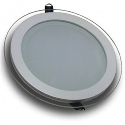 Downlight panel LED Redondo 200mm Cristal 16W