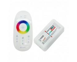 Controlador para tira LED RGBW, Dimmer por Control Remoto RF Touch Blanco