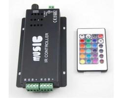 Controlador para tira LED RGB 180W Musica con mando
