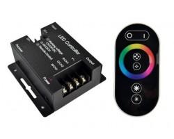 Controlador para tira LED RGB 432W 12V/24V con mando Touch Negro