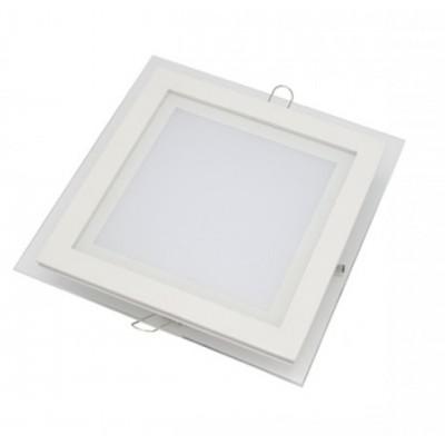 Downlight panel LED Cuadrado 100x100mm Cristal 7W