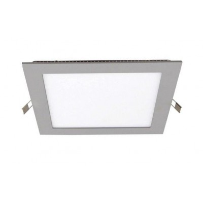 Downlight panel LED Cuadrado 170x170mm Gris 12W