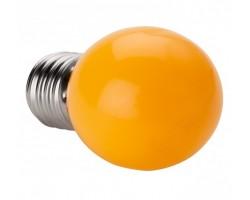 Lámpara LED Esferica E27 2W Ambar